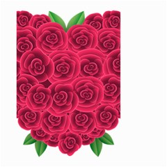 Floral Heart Small Garden Flag (two Sides)