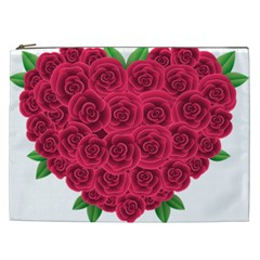 Floral Heart Cosmetic Bag (xxl)