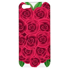 Floral Heart Apple Iphone 5 Hardshell Case