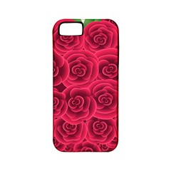 Floral Heart Apple Iphone 5 Classic Hardshell Case (pc+silicone)