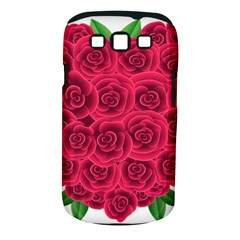 Floral Heart Samsung Galaxy S Iii Classic Hardshell Case (pc+silicone)