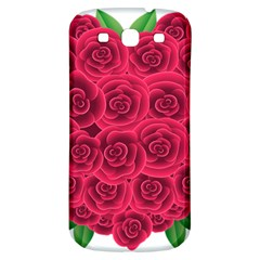 Floral Heart Samsung Galaxy S3 S Iii Classic Hardshell Back Case