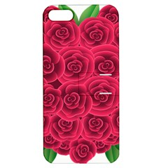 Floral Heart Apple Iphone 5 Hardshell Case With Stand