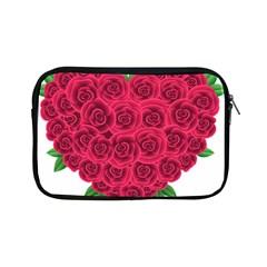 Floral Heart Apple Ipad Mini Zipper Cases