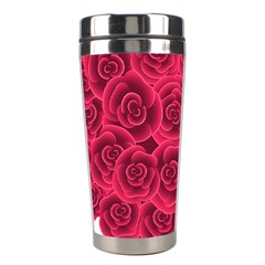 Floral Heart Stainless Steel Travel Tumblers