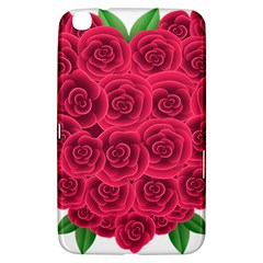 Floral Heart Samsung Galaxy Tab 3 (8 ) T3100 Hardshell Case