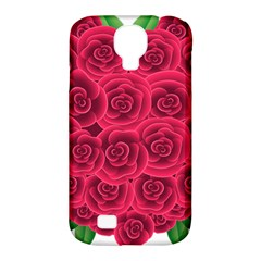 Floral Heart Samsung Galaxy S4 Classic Hardshell Case (pc+silicone)