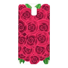 Floral Heart Samsung Galaxy Note 3 N9005 Hardshell Back Case