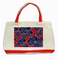 Batik Background Vector Classic Tote Bag (red)