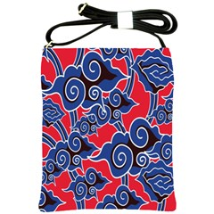 Batik Background Vector Shoulder Sling Bags