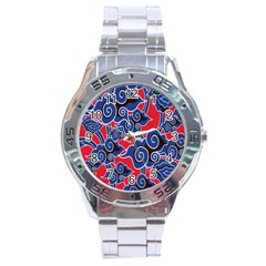 Batik Background Vector Stainless Steel Analogue Watch