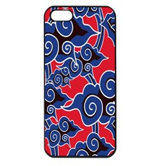 Batik Background Vector Apple Iphone 5 Seamless Case (black)