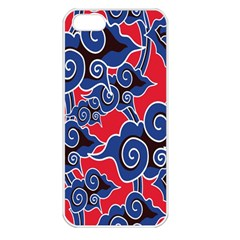 Batik Background Vector Apple Iphone 5 Seamless Case (white)