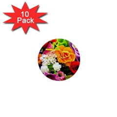 Colorful Flowers 1  Mini Buttons (10 Pack)