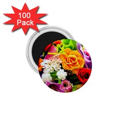 Colorful Flowers 1 75  Magnets (100 Pack)