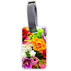 Colorful Flowers Luggage Tags (two Sides)