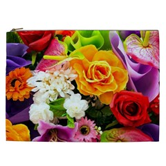 Colorful Flowers Cosmetic Bag (xxl)