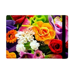 Colorful Flowers Apple Ipad Mini Flip Case