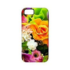 Colorful Flowers Apple Iphone 5 Classic Hardshell Case (pc+silicone)