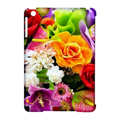 Colorful Flowers Apple Ipad Mini Hardshell Case (compatible With Smart Cover)