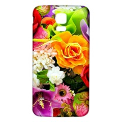 Colorful Flowers Samsung Galaxy S5 Back Case (white)