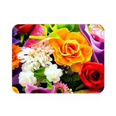 Colorful Flowers Double Sided Flano Blanket (mini)