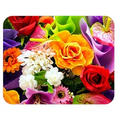 Colorful Flowers Double Sided Flano Blanket (medium)