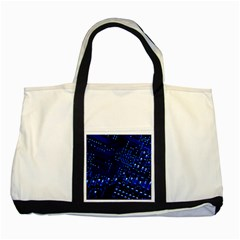 Blue Circuit Technology Image Two Tone Tote Bag