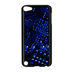Blue Circuit Technology Image Apple Ipod Touch 5 Case (black)