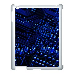 Blue Circuit Technology Image Apple Ipad 3/4 Case (white)