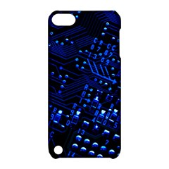 Blue Circuit Technology Image Apple Ipod Touch 5 Hardshell Case With Stand