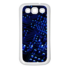 Blue Circuit Technology Image Samsung Galaxy S3 Back Case (white)