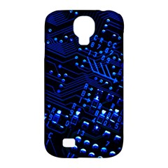 Blue Circuit Technology Image Samsung Galaxy S4 Classic Hardshell Case (pc+silicone)