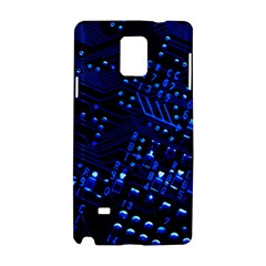 Blue Circuit Technology Image Samsung Galaxy Note 4 Hardshell Case