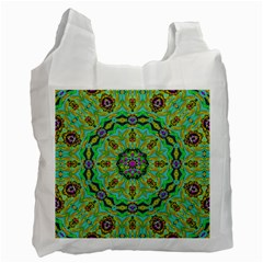Golden Star Mandala In Fantasy Cartoon Style Recycle Bag (two Side)