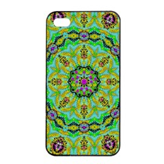 Golden Star Mandala In Fantasy Cartoon Style Apple Iphone 4/4s Seamless Case (black)