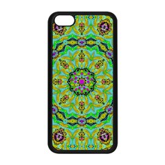 Golden Star Mandala In Fantasy Cartoon Style Apple Iphone 5c Seamless Case (black)