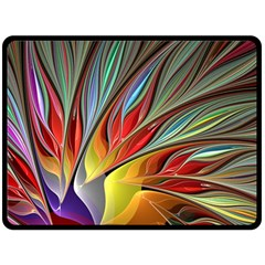 Fractal Bird Of Paradise Fleece Blanket (large)