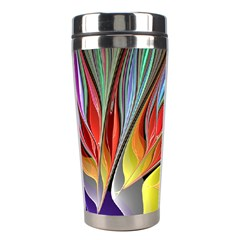 Fractal Bird Of Paradise Stainless Steel Travel Tumblers