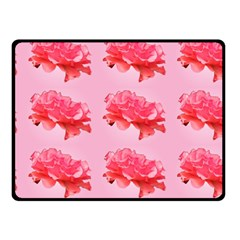 Pink Floral Pattern Double Sided Fleece Blanket (small)