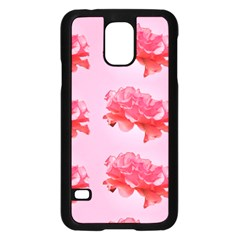 Pink Floral Pattern Samsung Galaxy S5 Case (black)