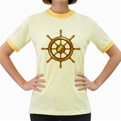 Boat Wheel Transparent Clip Art Women s Fitted Ringer T Shirts