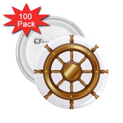 Boat Wheel Transparent Clip Art 2 25  Buttons (100 Pack)