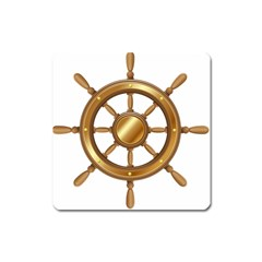 Boat Wheel Transparent Clip Art Square Magnet