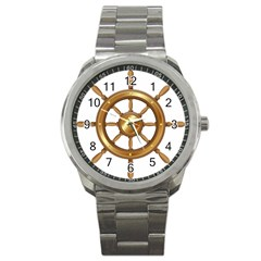 Boat Wheel Transparent Clip Art Sport Metal Watch