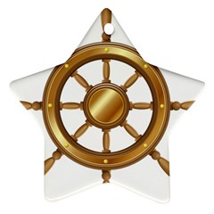 Boat Wheel Transparent Clip Art Star Ornament (two Sides)