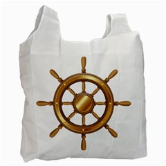 Boat Wheel Transparent Clip Art Recycle Bag (one Side)