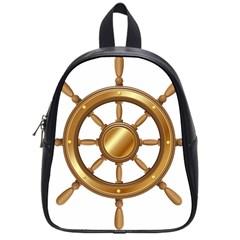 Boat Wheel Transparent Clip Art School Bags (small)