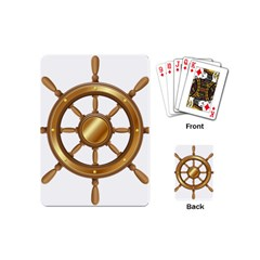 Boat Wheel Transparent Clip Art Playing Cards (mini)