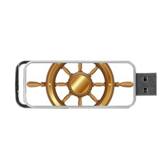 Boat Wheel Transparent Clip Art Portable Usb Flash (two Sides)